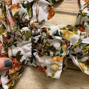 Banana Republic Tops - BANANA REPUBLIC Floral Tie Cuff Long Sleeve Blouse